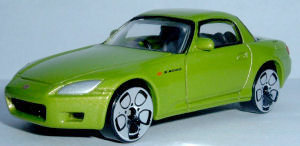 REAL TOY HONDA S 2000 IN YELLOW MINT NEW 1:56 GREAT DETAIL